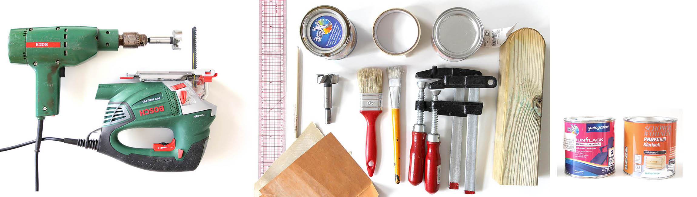 Ein Überblick über alle benötigten Werkzeuge