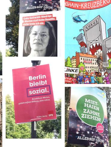 Berliner Wohnungsnot Parteiwerbung Gesamtübersicht