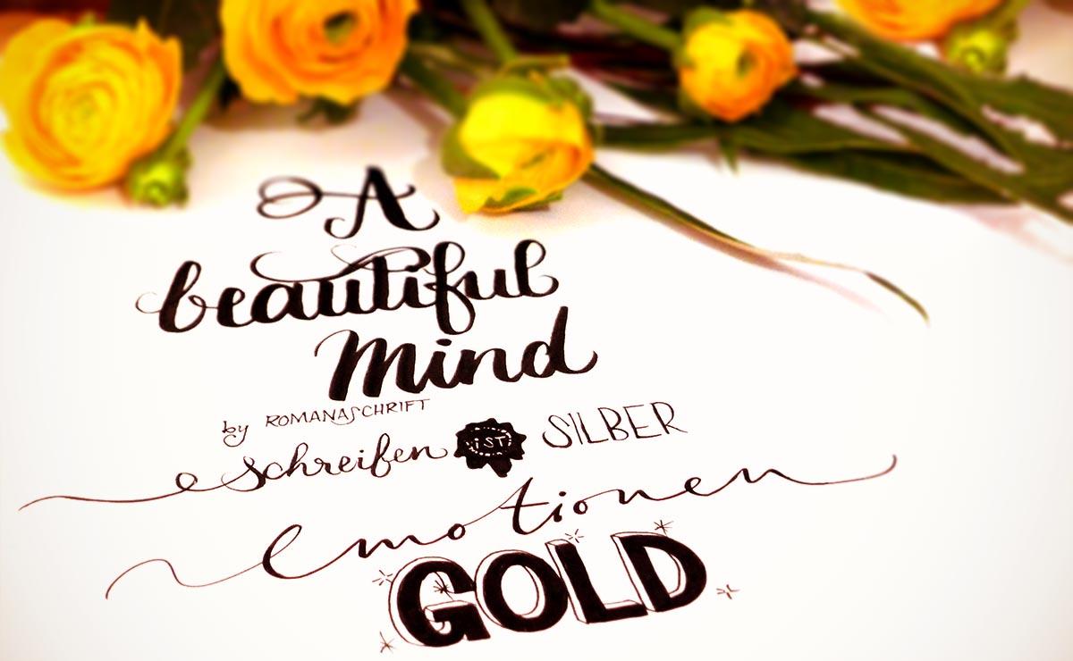 Schreiben ist Silber, Emotionen sind Gold