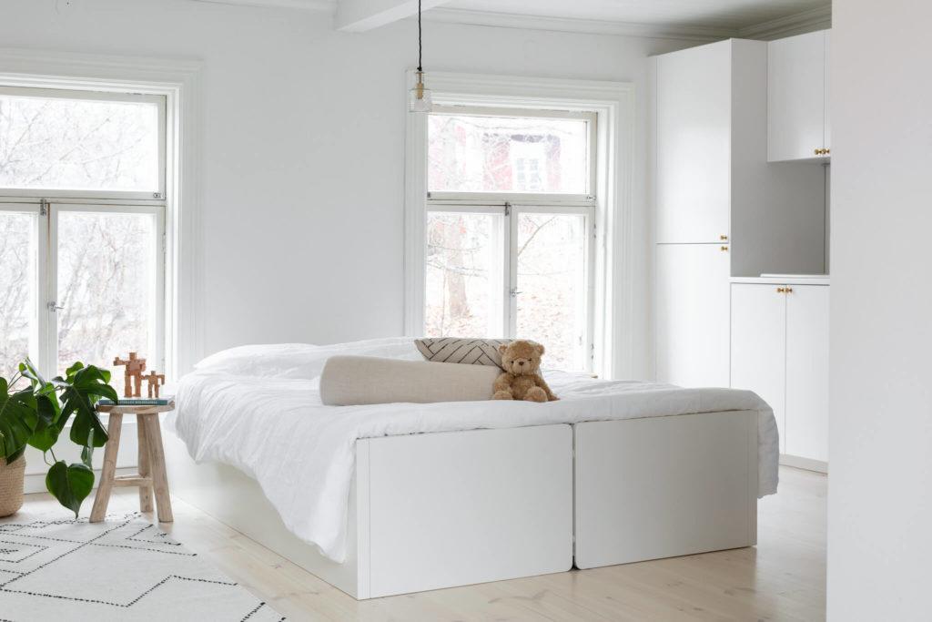 Das Tablebed kann zu einem Doppelbett umgebaut werden.